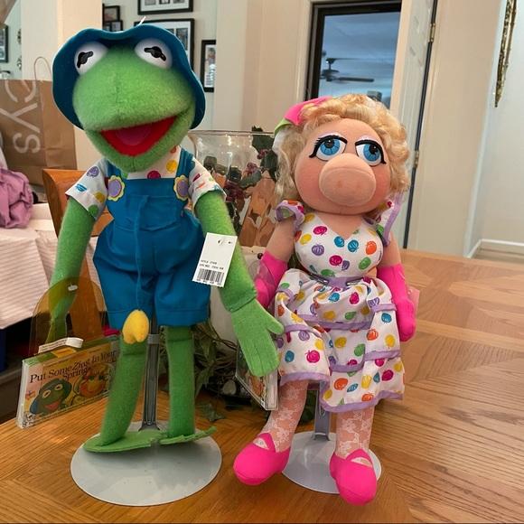 NWT Vintage Kermit & Miss Piggy Spring Plush